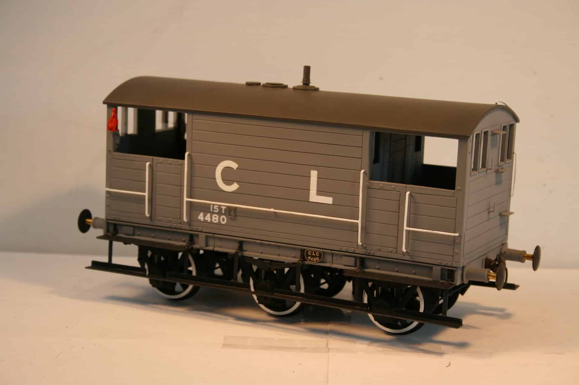 CLC 15 ton Goods Brake Van 4480 in grey livery