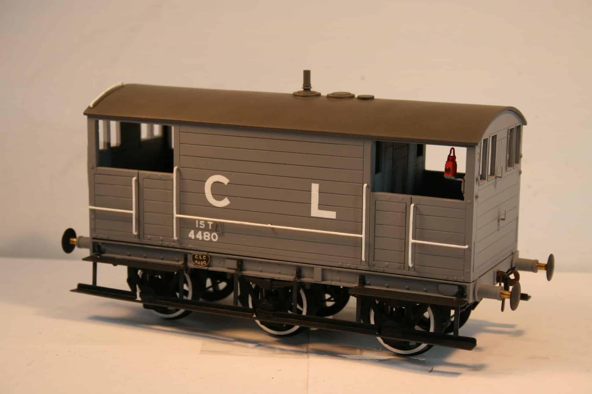 CLC 15 ton Goods Brake Van 4480 in grey livery