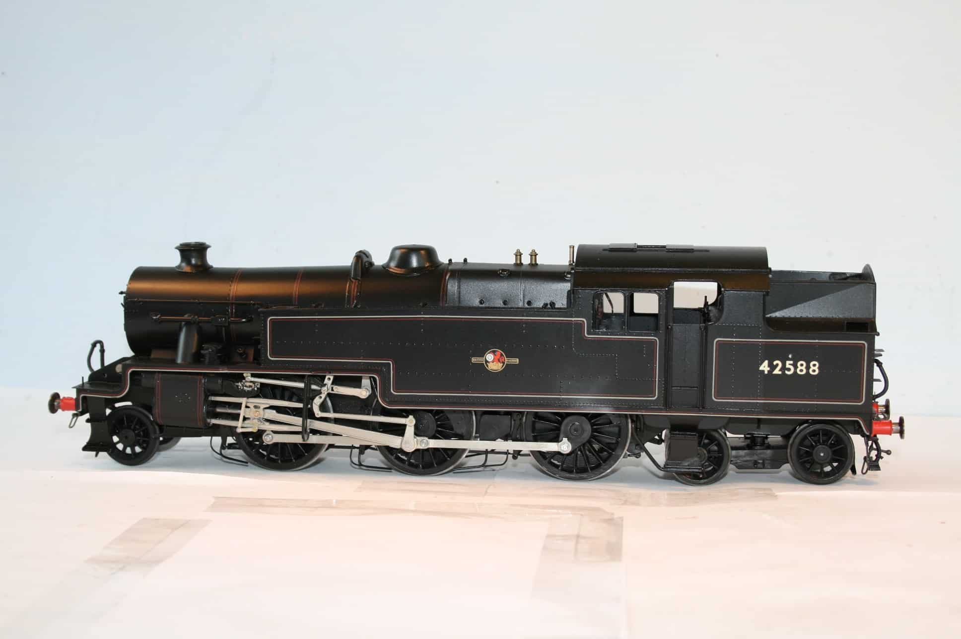 BR Class 4 Stanier 2-6-4T engine 42588 lined black, late crest