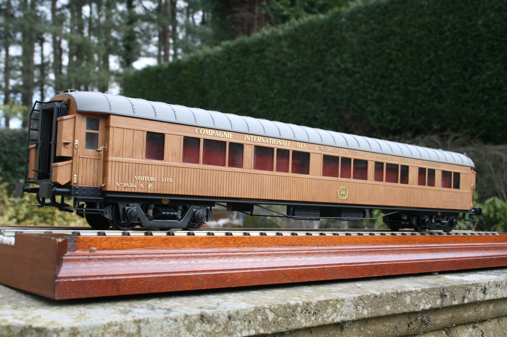 CIWL Teak Sleeping Car fleet number 2626 A