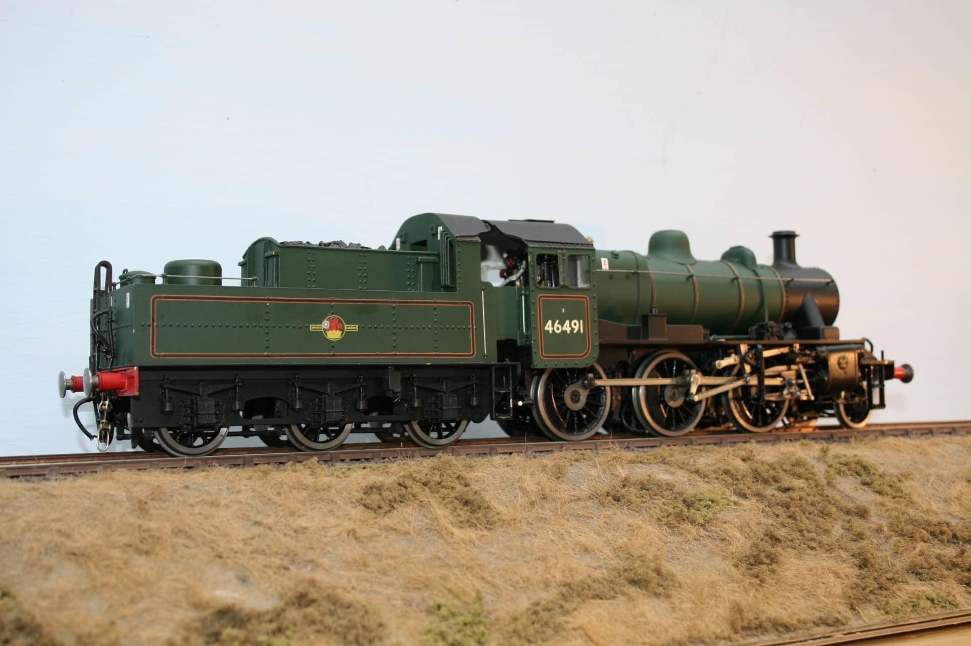 BR Ivatt Class 2 2-6-0 tender engine 46491 late crest