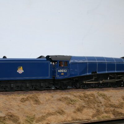 "BR(E) Class A4 4-6-2 tender engine 60032 ""Gannet"" in experimental blue livery"