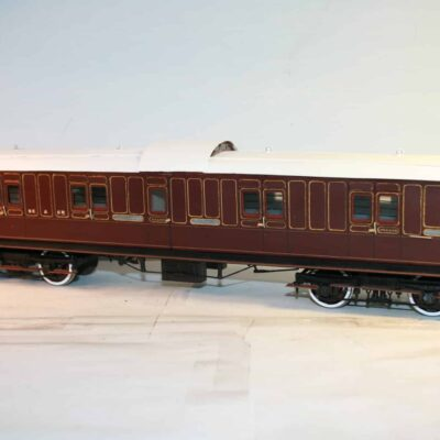 SE&CR 50ft. 8T Bogie Luggage Brake number 14 in lined crimson livery