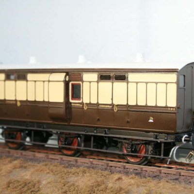 GWR 6 wheel Passenger Luggage/Guards Van r/n 502
