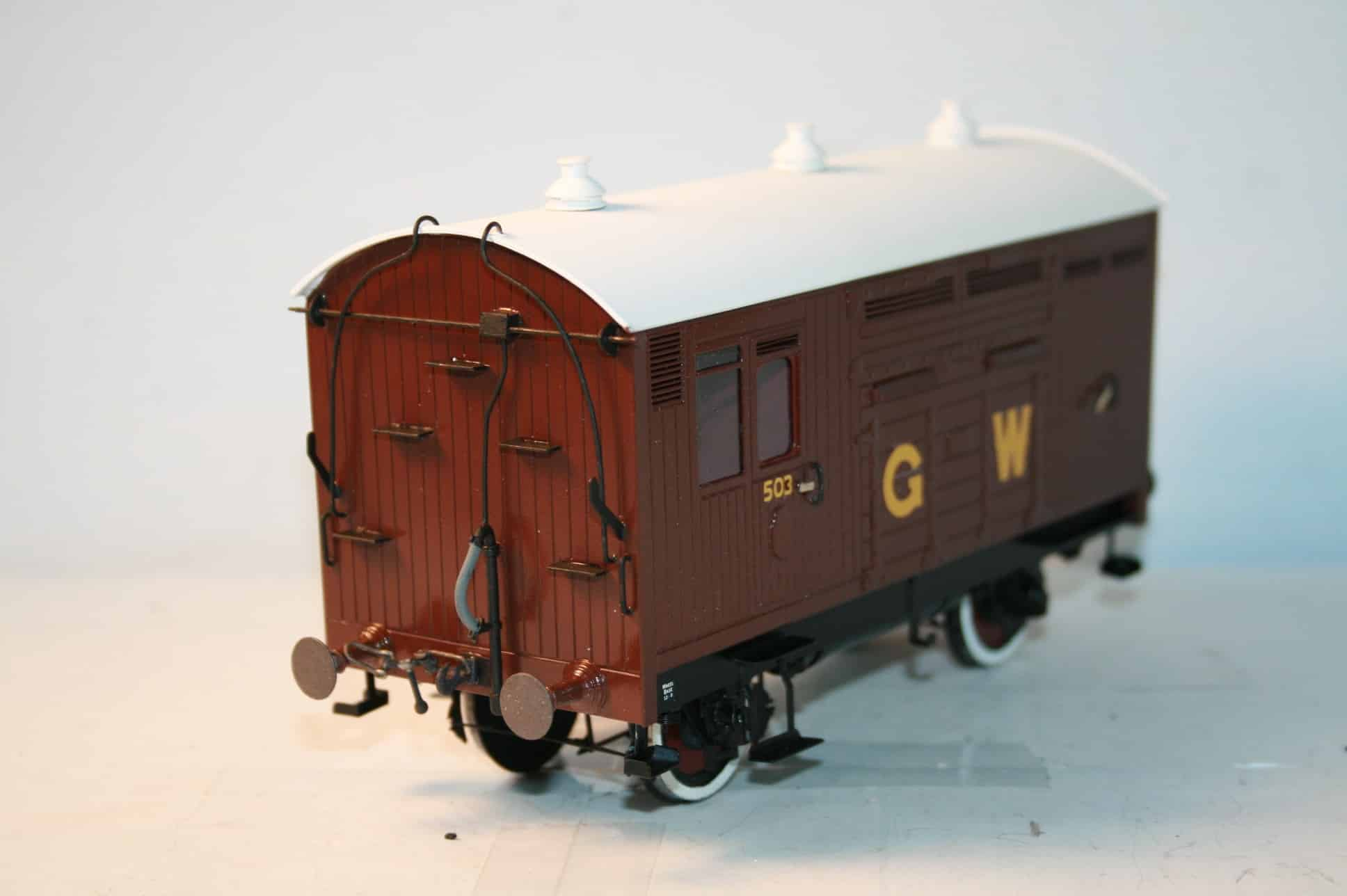 GWR (Ex. Taff Vale) Horsebox r/n 503 in brown livery