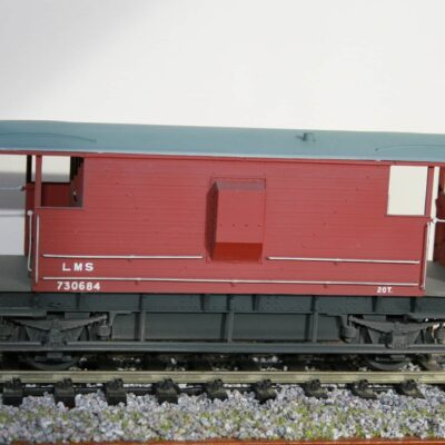 LMS 20T Brake Van r/n 730684 in lightly weathered post 1936 livery