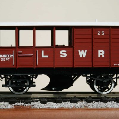 LSWR Engineer's Dept. Ballast Plough Brake Van r/n 25