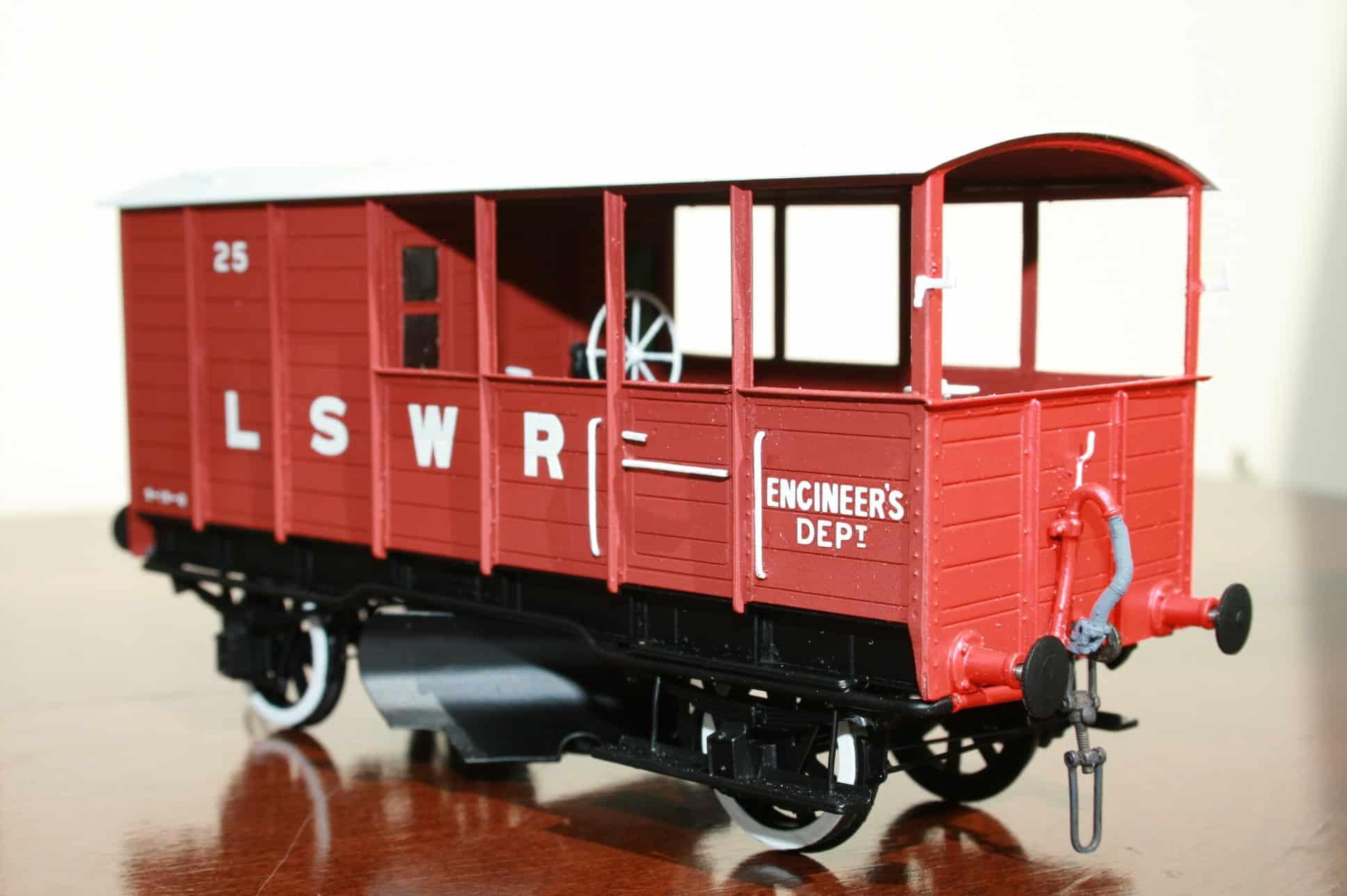 LSWR Engineer's Dept. Ballast Plough Brake Van r/n 25